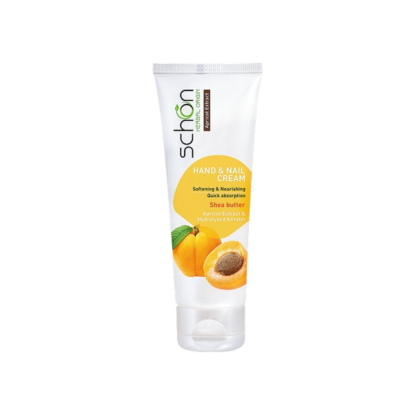 SCHON HAND AND NAIL APRICOT EXTRACT CREAM FOR ALL SKINS 75ML