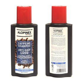 شامپو کافئین ضد ریزش موی خشک و آسیب دیده آلوپینکس