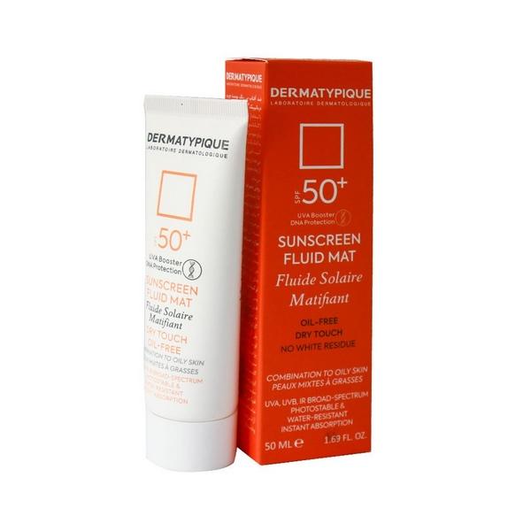 کرم ضد آفتاب SPF50 بی رنگ فاقد چربی درماتیپیک