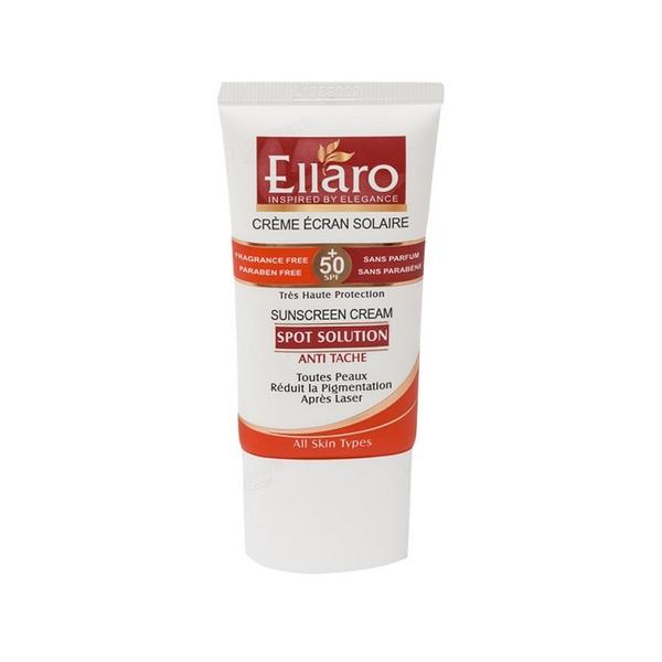 کرم ضد آفتاب SPF50 اسپات سولوشن مناسب انواع پوست الارو