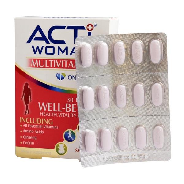 قرص مولتی ویتامین اکتی وومن لیبرتی