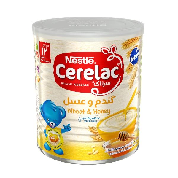 سرلاک گندم و عسل به همراه شیر نستله