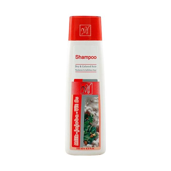 شامپو پروتئین شیر و روغن جوجوبا مناسب موهای خشک و رنگ شده مای