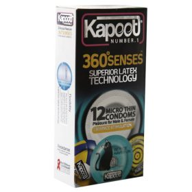 کاندوم خیلی نازک 12 عددی 360 سنس کاپوت