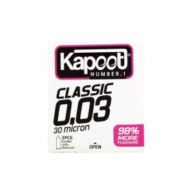 کاندوم کلاسیک 3عددی 0.03 کاپوت